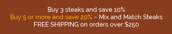 Save on Wagyu Steaks!