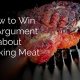 Argument about cooking meat